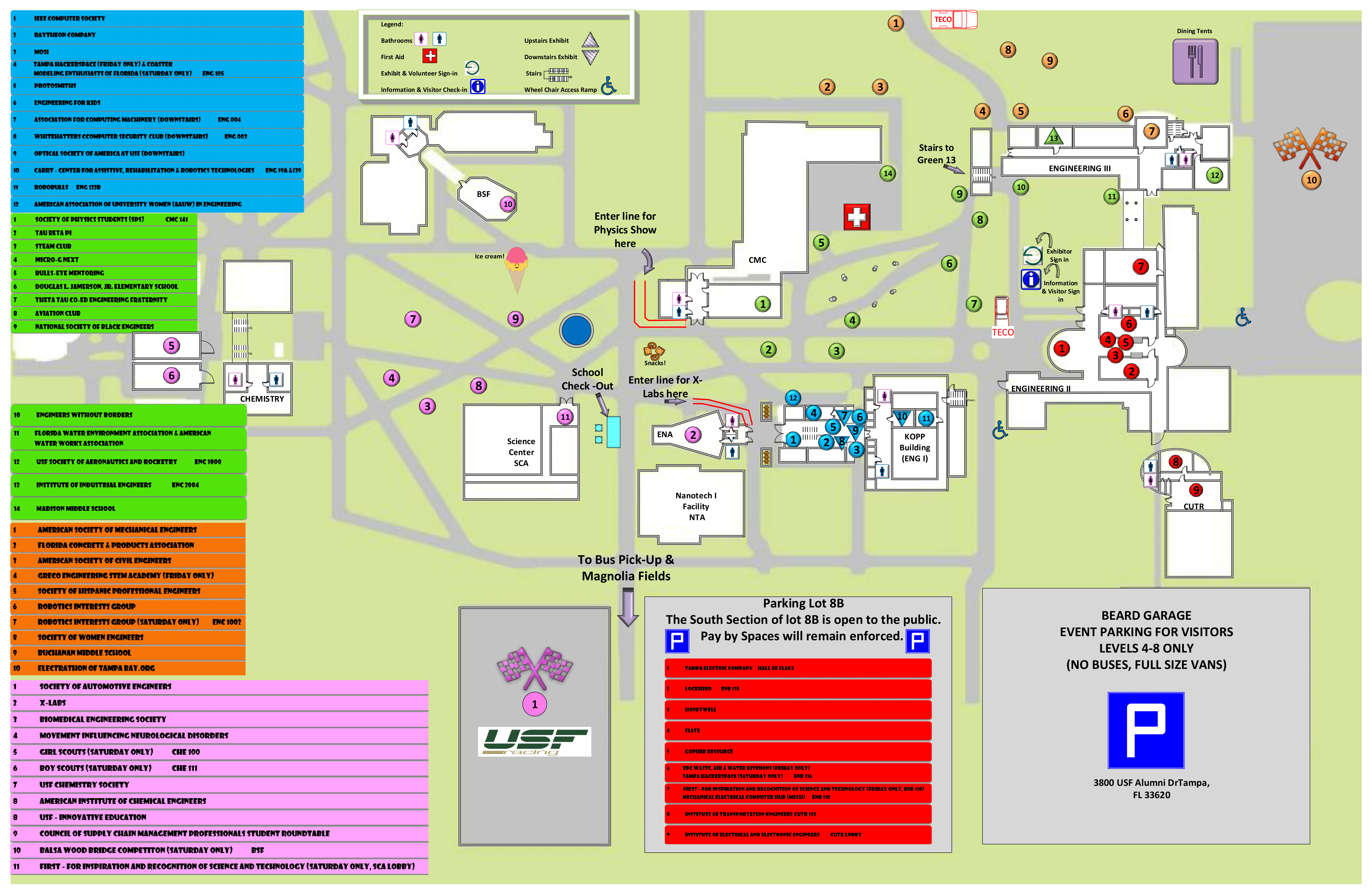 Map  Documents USF Engineering Expo - Usf location map